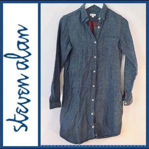 Lined cotton Fall/ Winter Shirt Dress